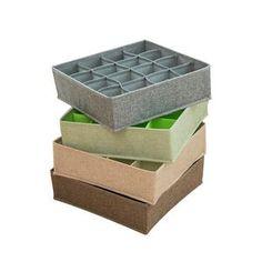 Foldable Socks Bras Underwear Organizer Box – HomeAlls Underwear Organization, Closet Organization, Linen Fabric, Cotton Linen, Organizer Box, Closet Layout, Other Accessories, Montage, Decorative Boxes