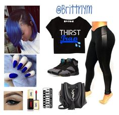 """""""@Brittnym royal Blue"""" by brittnym ❤ liked on Polyvore featuring NIKE, Yves Saint Laurent and CellPowerCases"""