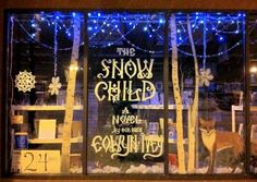 "A window display for Eowyn Ivey's book, ""The Snow Child"" at Fireside Books in Palmer. Ivey works part time at the bookstore."