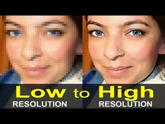 make low resolution images high resolution images in photoshop | low to high resolution - Super Fast - YouTube