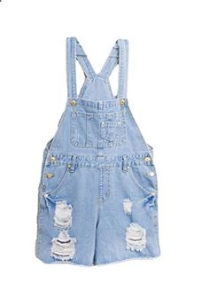 7edc22e71051 Solilor Womens Causal Distressed Rolled Cuff Denim Overall Shorts