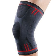 Kuangmi Knee Brace Compression Sleeve Sports Support Brace Pad for Running,Jogging,Basketball,Football Joint Pain Relief (Grayish Blue, Medium (Pack of 2)) * Check out this great product.