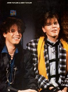 """When they were guest hosts on MTv: """" Duran Duran - Andy Taylor - John Taylor """".  I had this one taped.  I love John Taylor!"""
