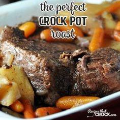 The Perfect Crock Pot Roast - Recipes That Crock! The Perfect Crock Pot Roast - Recipes That Crock! The Perfect Crock Pot Roast really is . Crock Pot Recipes, Pot Roast Recipes, Dinner Recipes, Slow Cooker Desserts, Slow Cooker Recipes, Cooking Recipes, Game Recipes, Recipies, Top Recipes