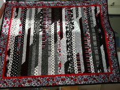 Quick Jelly Roll quilt with quilt as you go binding - so quick.