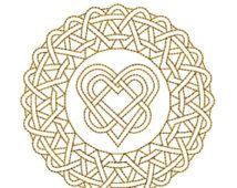 AUF Verkauf GOLDEN Circle Mandala 7 Maschine Stickerei Design 4 x 4 Reifen Redwork Instant Download