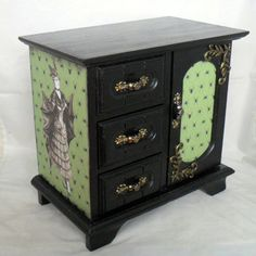 Gothic Jewelry Box - Victorian Vampire on Etsy, $50.00