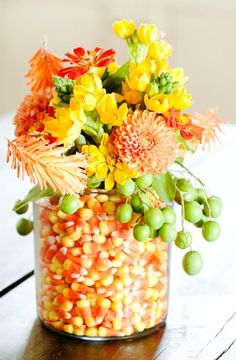 Candy corn centerpiece