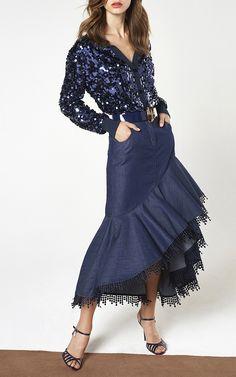 Sequin Cardigan by BLUMARINE for Preorder on Moda Operandi