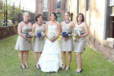 Samantha and Kyle's intimate Savannah, GA Wedding. DIY bridesmaids bouquets. Photography Jennifer Woodberry. #bouquets #dresses #intimatewedding