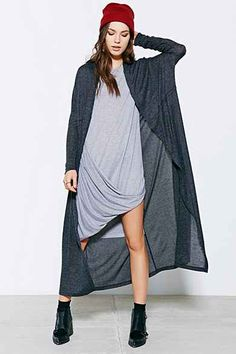 0ed4ca8fe9 Silence + Noise Layer-It-On Duster Cardigan Sweater Cardigan Long Femme