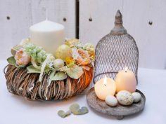 Osterdeko - Osterkranz *Pastell* - ein Designerstück von tulip-dekoCONZEPT bei DaWanda