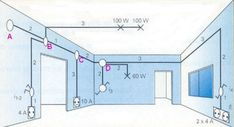 Electrical Circuit Diagram, Electrical Layout, Electrical Wiring Diagram, Electrical Installation, Electrical Engineering, Home Hacks, Autocad, Plumbing, House Plans