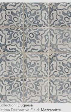 Love the washed, weathered, time-worn look of these tiles