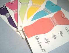 Bridesmaid Cards Will You Be My Bridesmaid Cards Custom Colors.