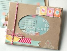 Postmarks Revisited - Boxed Birthday Postcards by Betsy Veldman for Papertrey Ink (July 2013)