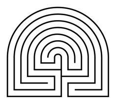 Going to make this labyrinth in my garden this year. So excited.