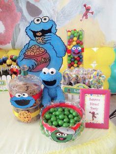 Mesa dulce. Cumpleaños de Plaza Sesamo