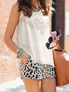 White Beaded Vest - Fashion Clothing, Latest Street Fashion At Abaday.com