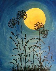 Moonlit Flowers *Paint Nite* Buy tickets at paintnite.com
