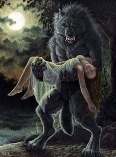 Werewolf Fantasy Creatures, Mythical Creatures, Dark Fantasy, Fantasy Art, Werewolf Art, Vampires And Werewolves, Wolf Love, Big Bad Wolf, Creatures Of The Night