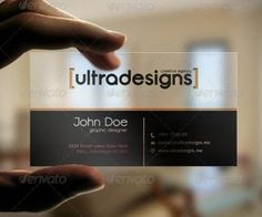 40 Creative Examples Of Transparent Business Cards | Free and ...