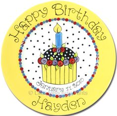 Personalized Birthday Plates - Little Miss Arty Pants