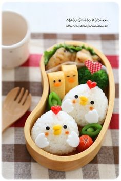 【小鳥おにぎりのお弁当】 の画像 Mai's スマイル キッチン
