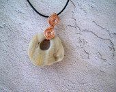 Stone Wirewrap Pendant Necklace by sudsysuesoap on Etsy, $12.00