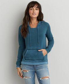 AEO Pullover Hoodie, Women's, Blue