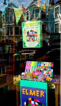 A lovely #ElmerDay display at Children's Bookshop in Muswell Hill