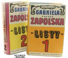 Listy, t. I-II, Zapolska Gabriela (projekt okładki i obwoluty, Jan Młodożeniec), Warszawa 1970, PIW.