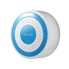 Digoo DG-ROSA 433MHz Wireless DIY Standalone Alarm Siren Multi-function Home Security Alarm Systems Host & Siren Set