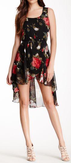 Floral hi lo dress