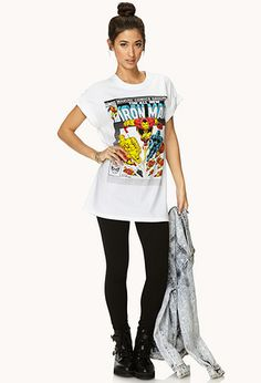 Marvel Comics Iron Man Tee | FOREVER 21 - 2000127461