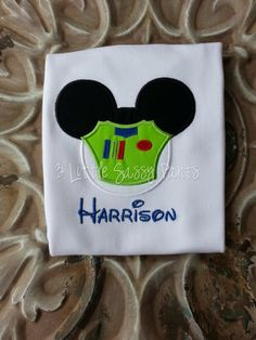 Buzz Lightyear Mickey Mouse Embroidered Shirt by 3LittleSassyPants, $22.00