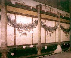 palatinus, livia házának freskói (girlandok architekturális keretben)