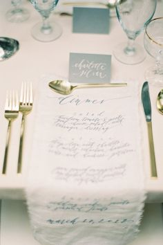 menu | photo by rylee hitchner photography