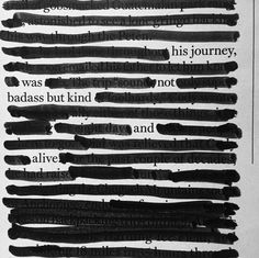 """His journey was not badass, but kind and alive"" by Georgia Foster"