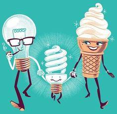 Bulb + icecream