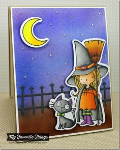 Witch Way Is the Candy? stamp set and Die-namics, Spooky Scene Die-namics - Jodi Collins #mftstamps