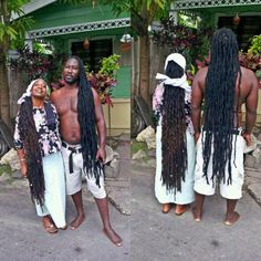 Couple from Antiqua with long thick locs. Very well maintained too! Just beautiful!