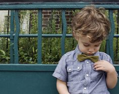 Mustard Houndstooth Bow Tie by Stinky McGee