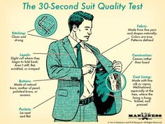 How To Check The Quality Of A Suit Jacket In About 30 Seconds - Neatorama