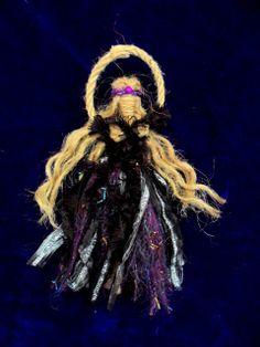 Morrigan Crow goddess doll Made from natural Jute handmade by positivelypagan.com on Etsy