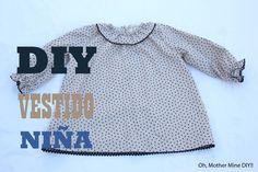 DIY de costura, cómo hacer tu misma este precioso vestido para niñas de entre 3 y 8 años, el patrón o molde lo podéis descargar gratis en el blog. DESPLIEGAM...