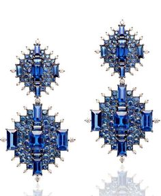 At the 2014 Couture Show in Las Vegas, Nam Cho took home first prize for these detachable and convertible earrings with kyanites, blue sapphires and diamonds (from $34,900).