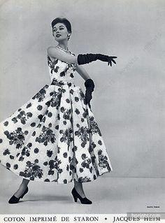 Jacques Heim 1953 Summer Dress, Photo Tobias, Staron