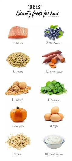 Some great foods to keep your hair healthy! #infographic #health #hair