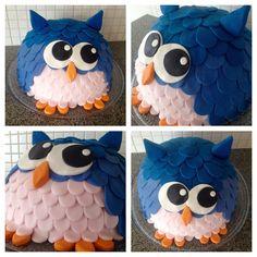 Liljan Lumo: Spring Owl cake -HUHUU! Kevätpöllö -HUHUU, pöllökakku, pöllö